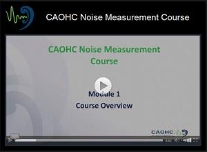 Noise Measurement Course | CAOHC
